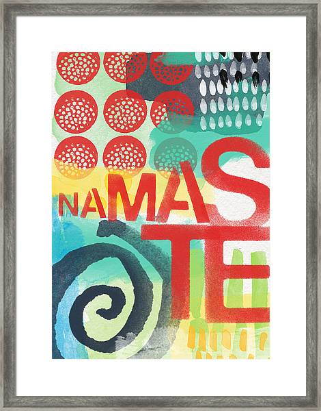 Namaste- Contemporary Abstract Art Framed Print