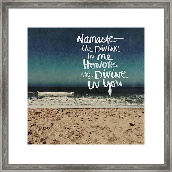 Namaste Waves  Framed Print