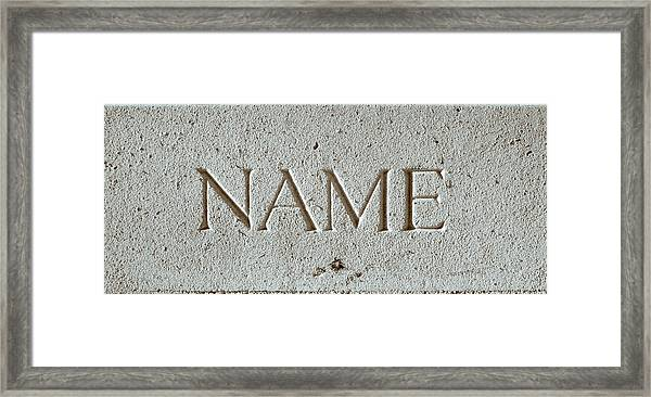 Name Framed Print
