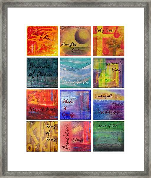 Names Of God Framed Print