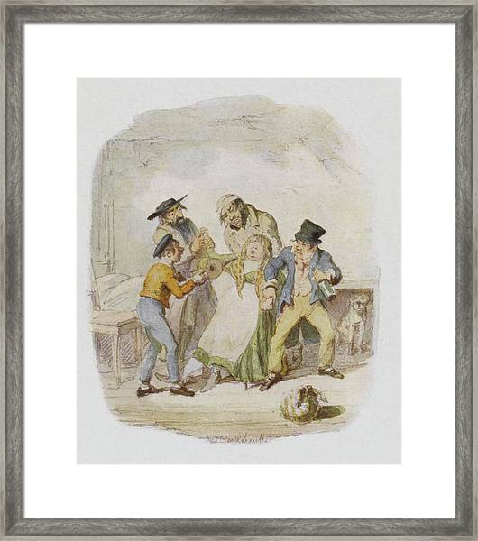 Nancy Is Revived By Fagin, The  Artful Framed Print
