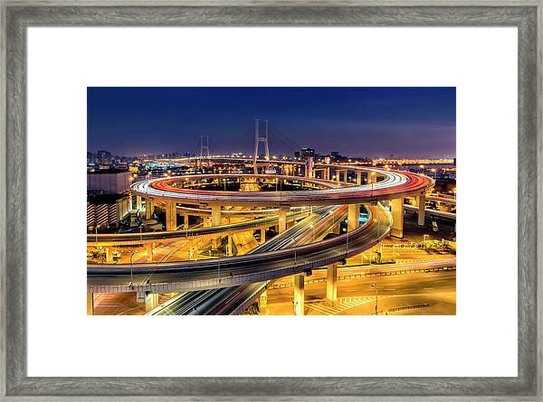 Nanpu Bridge Framed Print