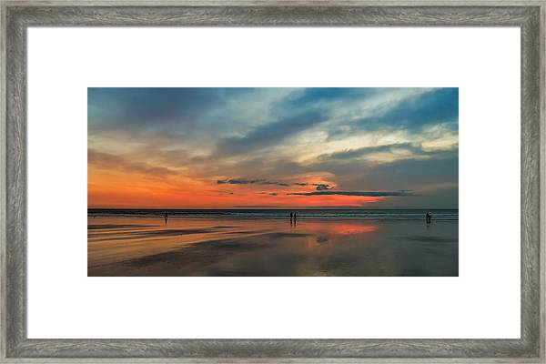 Nantasket Beach Sunrise Framed Print