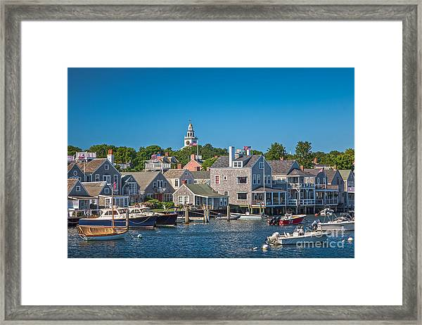 Framed Print featuring the photograph Nantucket Town by Susan Cole Kelly