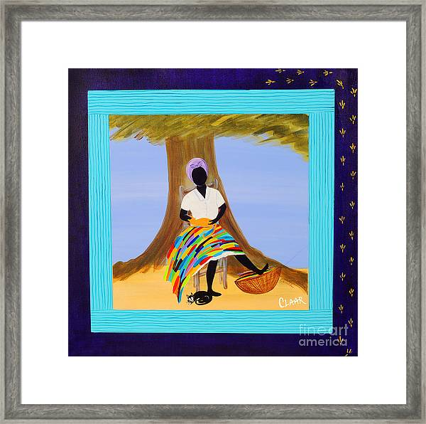 Nap With Cats Framed Print by Samantha Claar