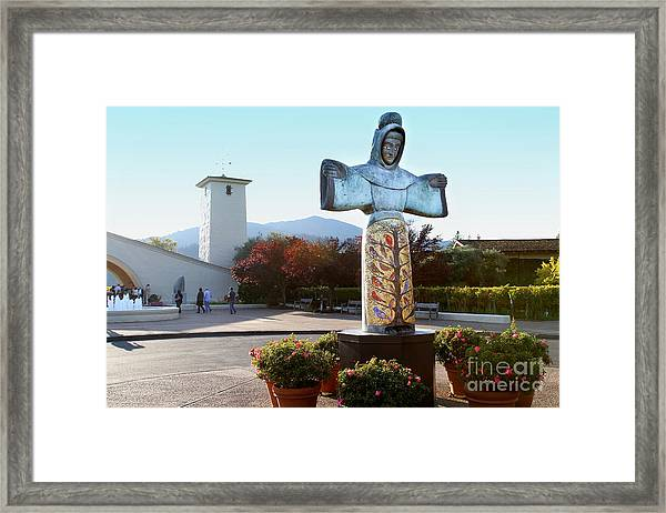 Napa Valley Winery 7d9046 Framed Print by Wingsdomain Art and Photography