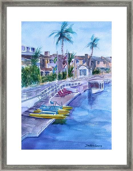 Naples Fun Framed Print