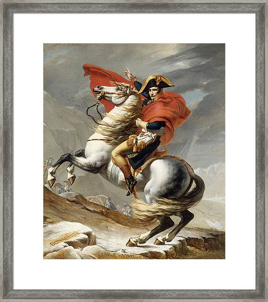 Napoleon Bonaparte On Horseback Framed Print