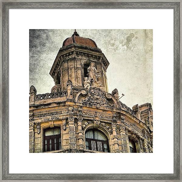 Naranjo Bldg. - Havana (1908) Framed Print