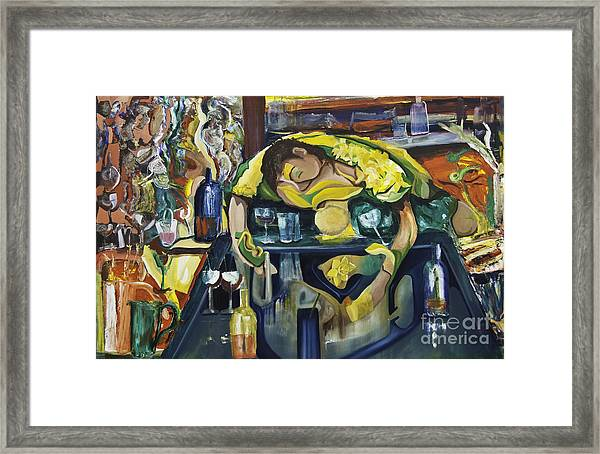 Narcisisstic Wine Bar Experience - After Caravaggio Framed Print