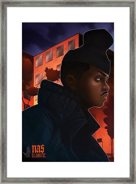 Nas Illmatic Framed Print