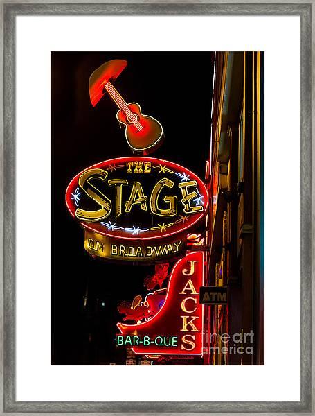 Nashville Night Life Framed Print