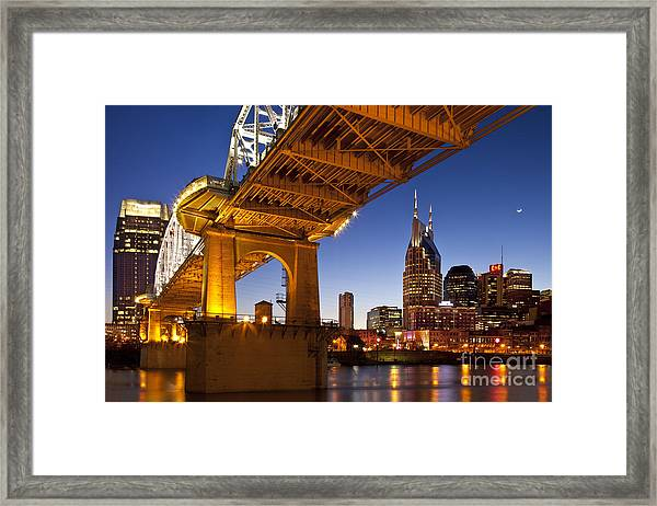 Framed Print featuring the photograph Nashville Tennessee by Brian Jannsen