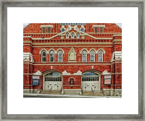 Nashville's Historic Ryman Auditorium Framed Print