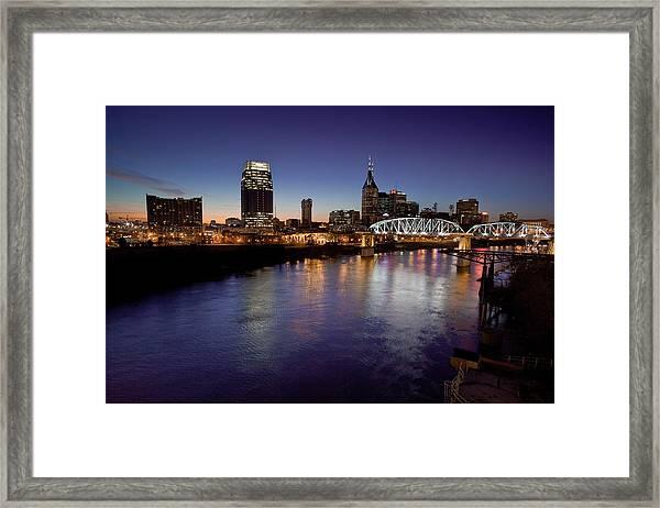 Nashville's River Framed Print