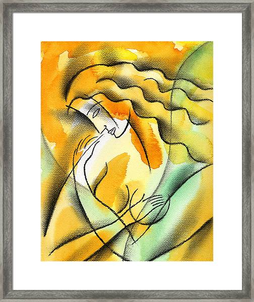 Woman Healthcare. Breast Examination. Framed Print