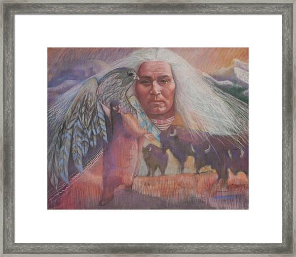 Nation Of Peace Framed Print by Pamela Mccabe