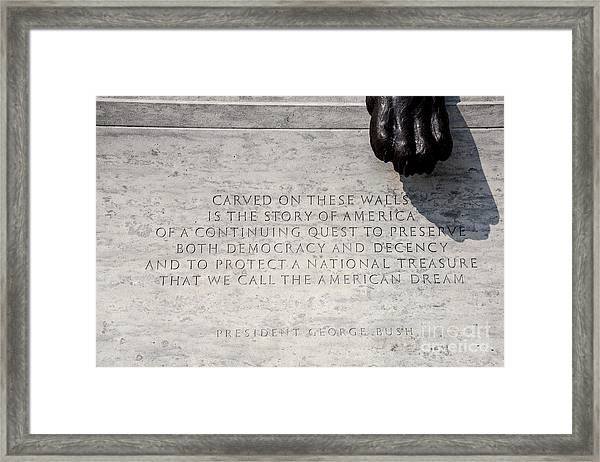 National Law Enforcement Officers Memorial Framed Print