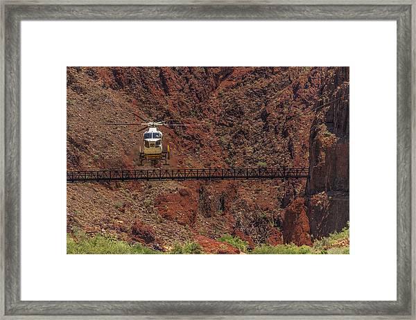 National Park Helicopter Framed Print