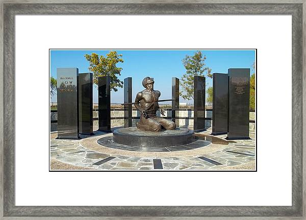 National Pow - M I A Memorial  Framed Print