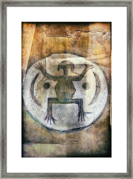 Native American Frog Pictograph Framed Print