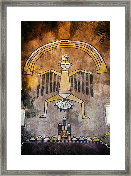 Native American Great Spirit Pictograph Framed Print