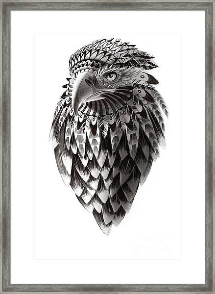 Native American Shaman Eagle Framed Print