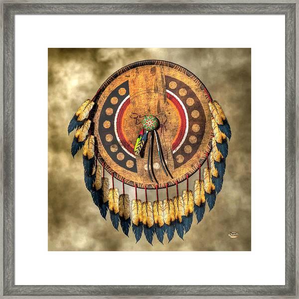 Native American Shield Framed Print