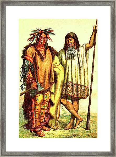 Native Americans Framed Print