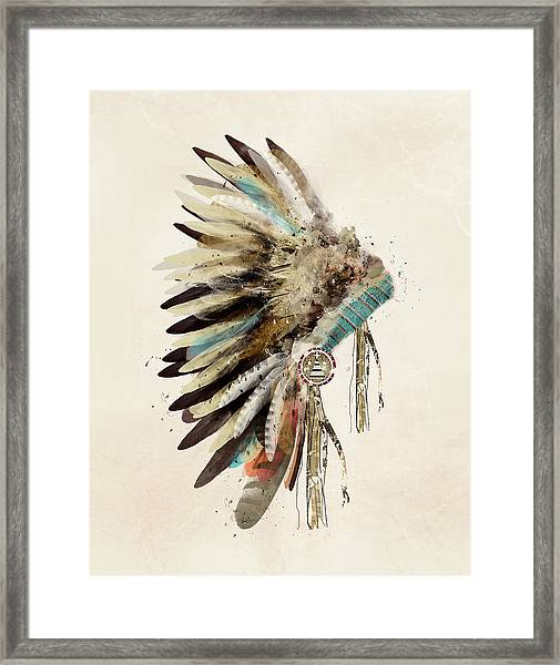 Native Headdress Framed Print