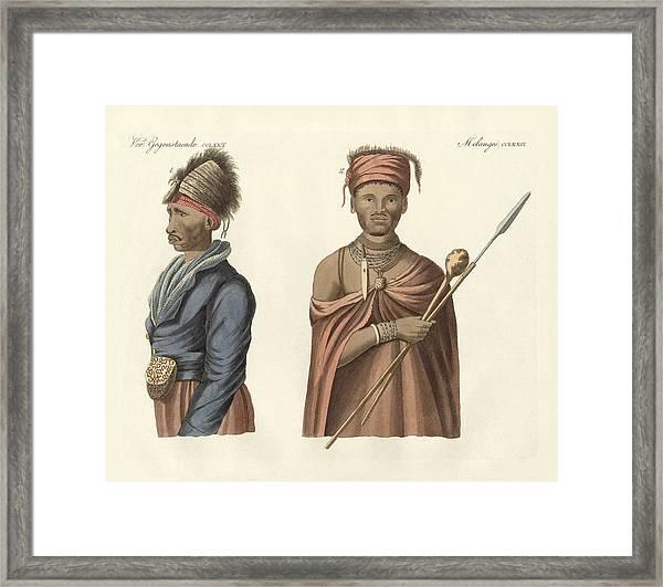Natives Of South Africa Framed Print