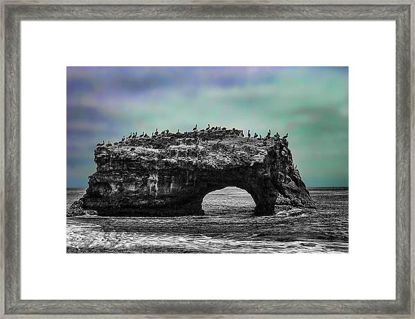Natural Bridges State Beach Framed Print