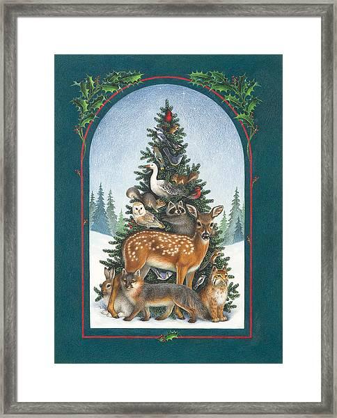 Nature's Christmas Tree Framed Print