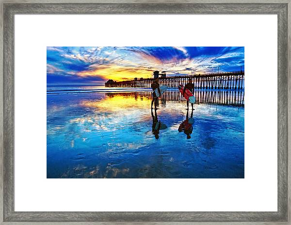 Nature's Extremes Framed Print by Donna Pagakis