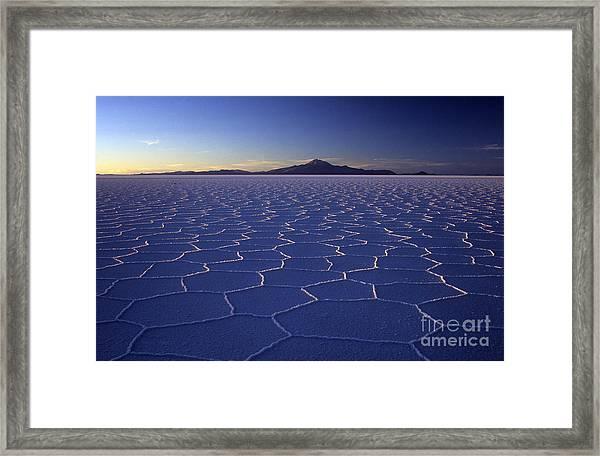 Natures Geometry Salar De Uyuni Framed Print