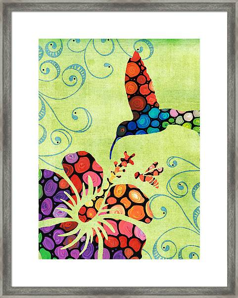 Nature's Harmony 2 - Hummingbird Art By Sharon Cummings Framed Print