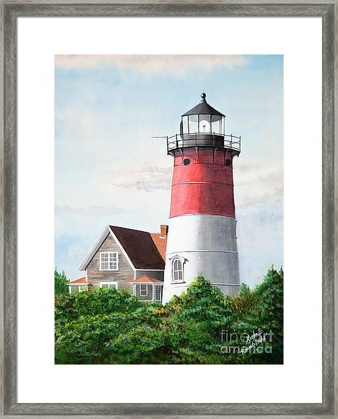 Nauset Beach Memories Watercolor Painting Framed Print