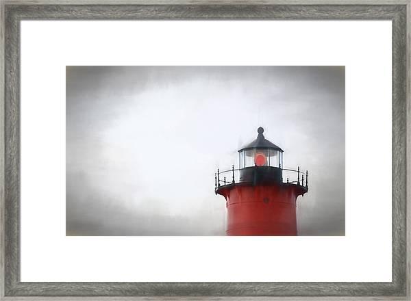 Nauset Lantern And Catwalk Framed Print