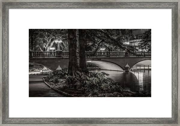 Navarro Street Bridge At Night Framed Print