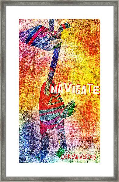 Navigate Framed Print by Currie Silver