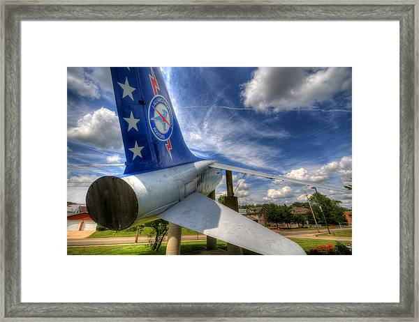 Navy A-7 Fighter Static Display Framed Print