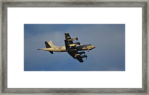 Navy P-3 Orion Turbo Prop Framed Print