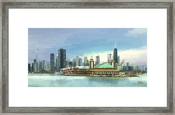 Navy Pier Chicago --winter Framed Print by Doug Kreuger