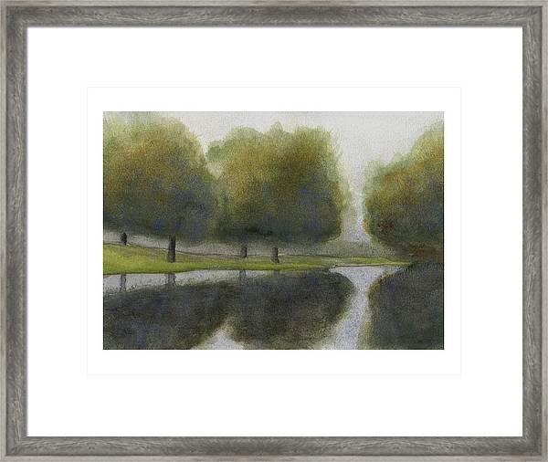 Ne 1st St Fog Framed Print