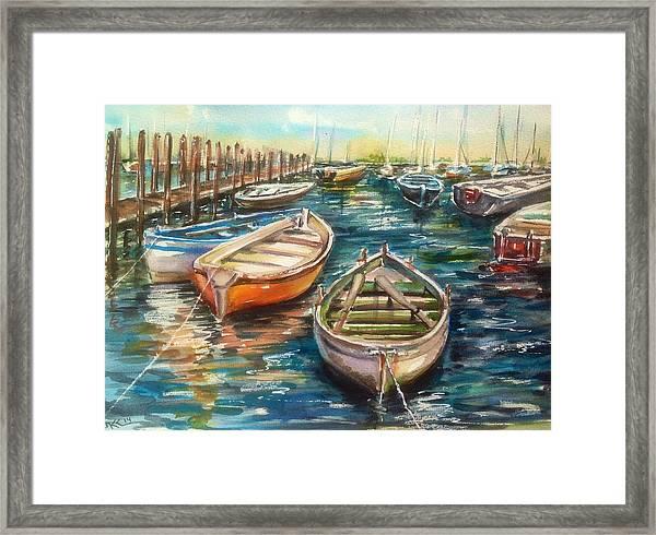 Near The Harbour Framed Print