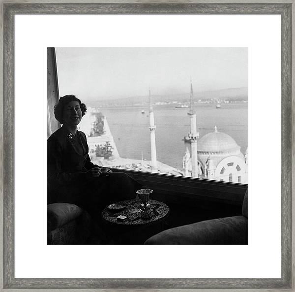 Necla Erad By The Bosporus Framed Print