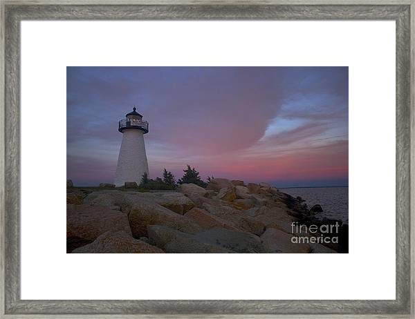 Ned's Point At Sunset Framed Print