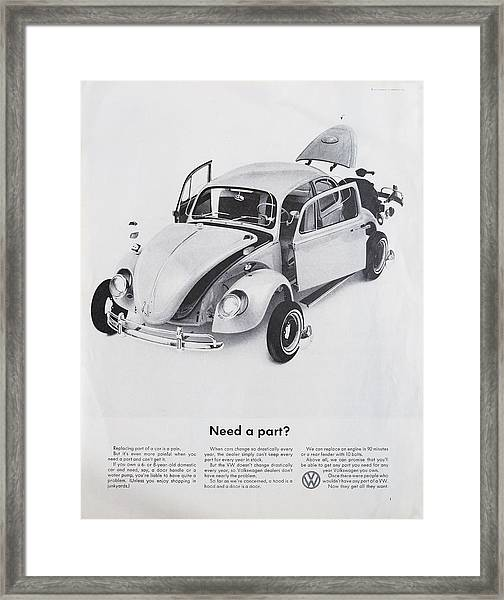 Need A Part? Framed Print