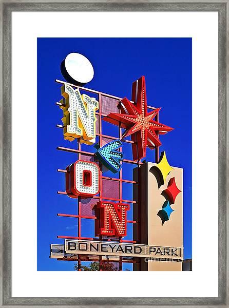 Vegas Neon Boneyard Framed Print