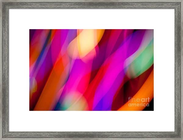 Neon Dance Framed Print